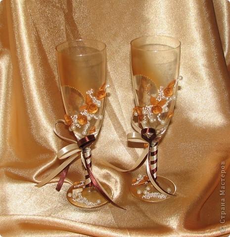 """Свадебные бокалы """"Золото"""" фото 3"""