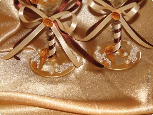 """Свадебные бокалы """"Золото"""" фото 4"""