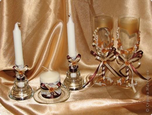 """Свадебные бокалы """"Золото"""" фото 5"""