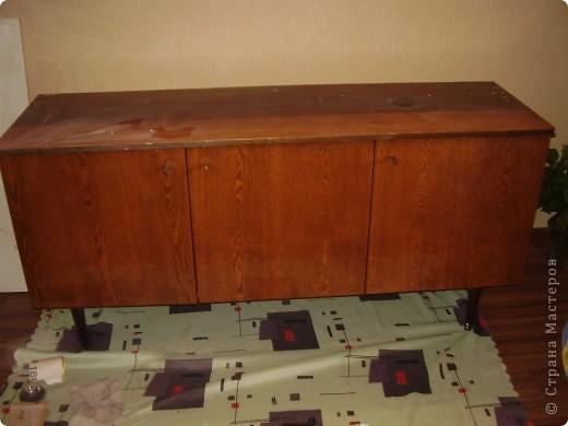 Декупаж тумбы под телевизор фото 2