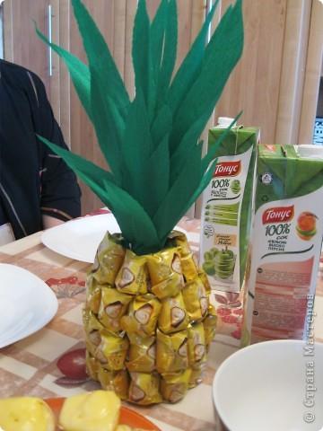 Вот такой ананас сделала я подруге на день рождения.