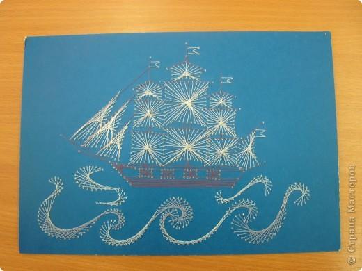 Куб, открытка на 23 февраля изонитью