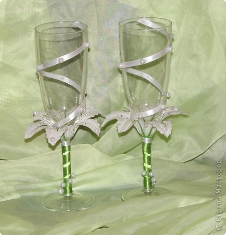 """Свадебные бокалы """"Лилия"""" фото 2"""