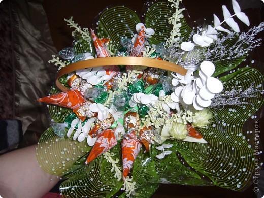 Вот такой букет из конфет я подарила маме на 55-летие! фото 3