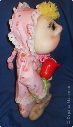 На юбилей подруги решила сшить ляльку. Вот такая малышка получилась. фото 3