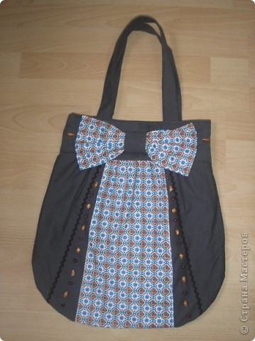 Летняя сумка с деревянніми ручками фото 2