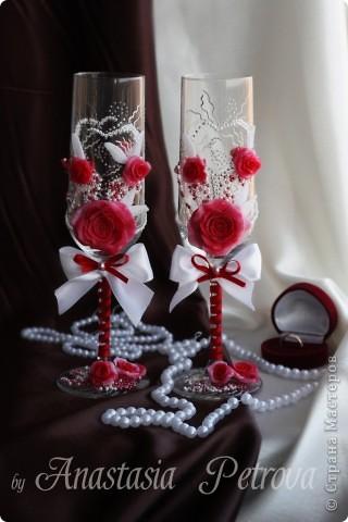 """Бокалы """"Красная роза"""""""