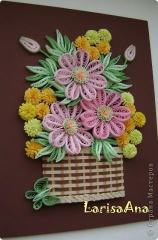 Букетик в плетённой корзинке. фото 2