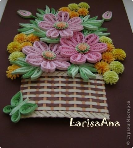 Букетик в плетённой корзинке. фото 3