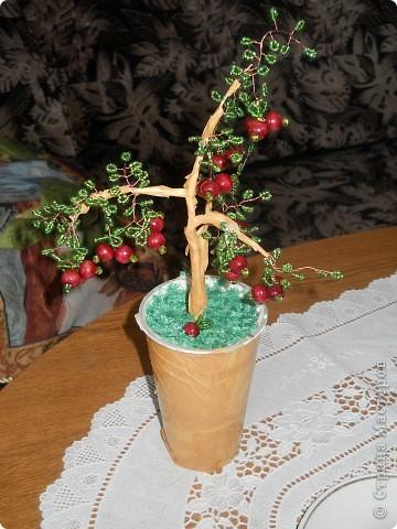 деревья из бисера. Проба пера фото 3
