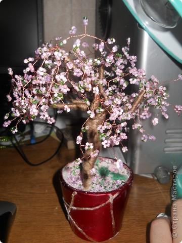 деревья из бисера. Проба пера фото 1