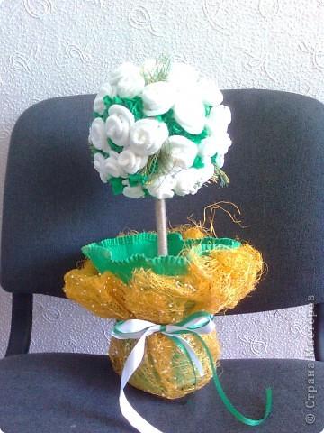 Деревце из роз решила сделать коллеге на свадьбу. фото 3