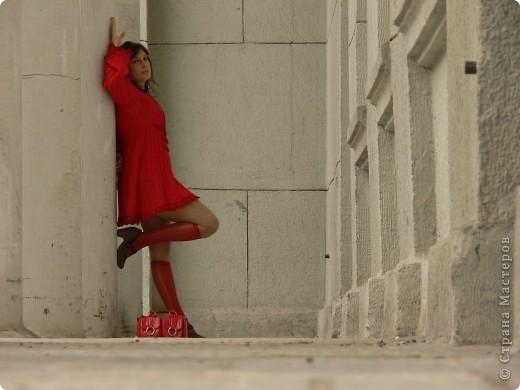 вязаное платье фото 2