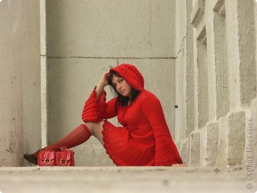 вязаное платье фото 1