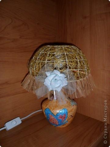 Лампа из папье маше