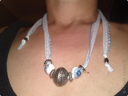 голубой китай. использовала тесьму бусы. спасибо что посмотрели на мои работы. фото 1