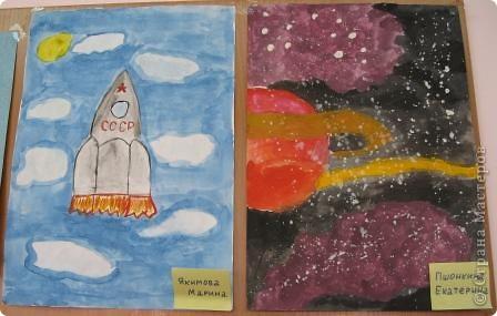 Такой получился стенд ко дню космонавтики. фото 2