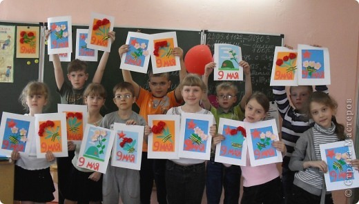 Эти открытки сделали недавно  вместе с учениками для ветеранов к Дню Победы. Спасибо огромное мастерицам Страны Мастеров за их замечательные идеи  http://stranamasterov.ru/technics/napkins_details   http://stranamasterov.ru/node/66031tid=451%2C1345 http://stranamasterov.ru/node/52588?tid=1345  фото 5