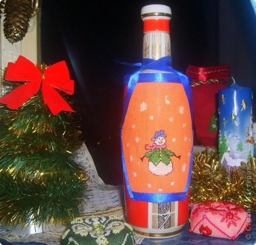 фартучек на бутылку фото 1
