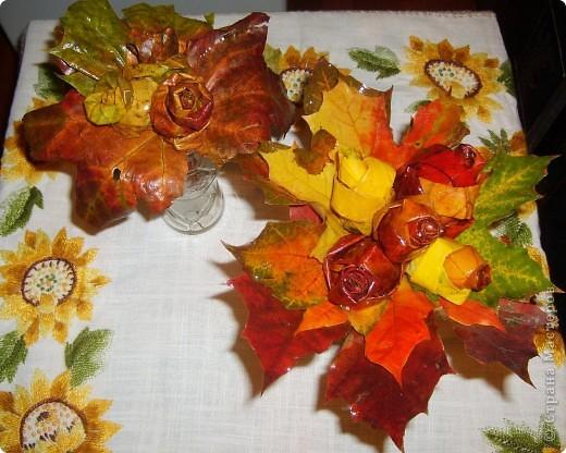 букет из опавших листьев:)