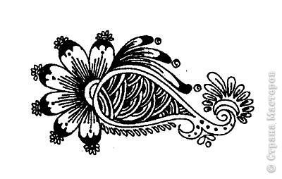 """Начало:   Введение 1    http://stranamasterov.ru/node/187189 Введение 2   http://stranamasterov.ru/node/187435 Начинаем с малого, учимся рисовать отдельные элементы. Для начинающих легче всего учиться рисовать хной на бумаге, нарисовав рисунок карандашом, а когда появиться уверенность, тогда можно попробовать на руках. И так 1-ый элемент. """"Бугорок""""  Бугорок, наиболее часто используемый элемент в рисунках расписанных хной. Ниже показаны элементы, для того чтобы более точно нарисовать на коже изображение с бугорками.    фото 10"""