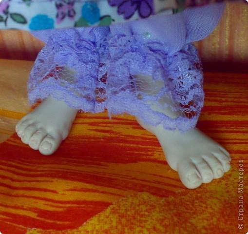 Вот такая у нас Дуняша появилась. Тело мягкое, руки ноги голова из пластика запекаемого- так что можно даже играть)) фото 4