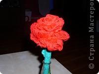 Вязание на линейке - цветы фото 2