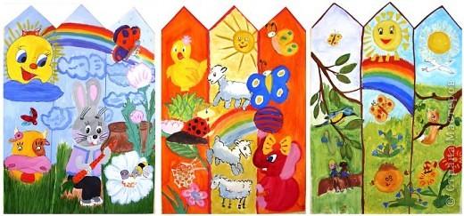 Начало нашего забора нарисовала педагог дополнительного образования Козлитина Наталия Владимировна. А дальше - работы детей. фото 3