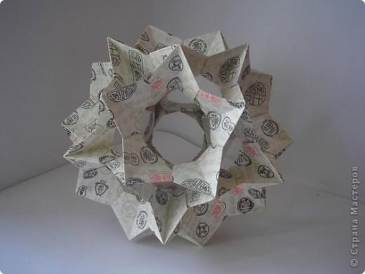 Мне понравилась бумага в рабботе. Это продолжение предыдущей работы http://stranamasterov.ru/node/187717?tid=850. Из одного листа бумаги. Всегда на Электру сажала цветы, а вот эта понравилась без них. Пока оставила ее так. фото 4