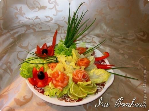 """Салат из лососины """" Весенние цветы"""" фото 1"""