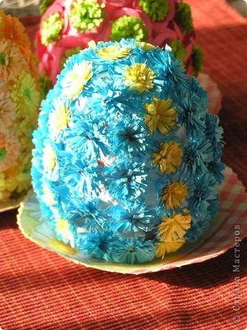 Пасхальные яйца-великанчикии мини-тарелочки на стену фото 3