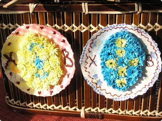 Пасхальные яйца-великанчикии мини-тарелочки на стену фото 5