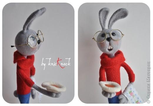 кролик из советского мультика про винни-пуха высота - 40см шерсть, пластика фото 2