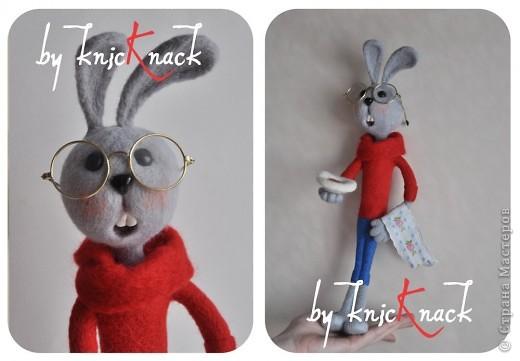 кролик из советского мультика про винни-пуха высота - 40см шерсть, пластика фото 1