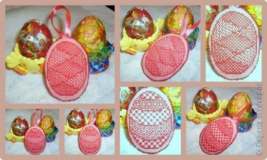 пластмассовое яйцо обмотано лентами и оплетено бисером. фото 4