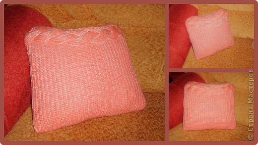 был старый свитер,а стала новая подушечка:)