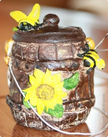 Поделка бочонок с медом своими