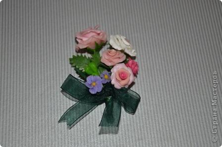 """Бутоньерка """"Розы"""" фото 1"""