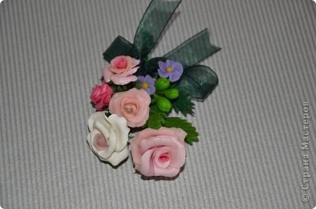 """Бутоньерка """"Розы"""" фото 2"""