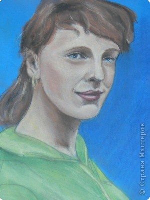мой портрет , первый опыт с пастелью. фото 1