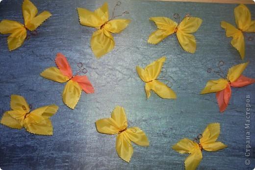 бабочки из шелковых лоскутков