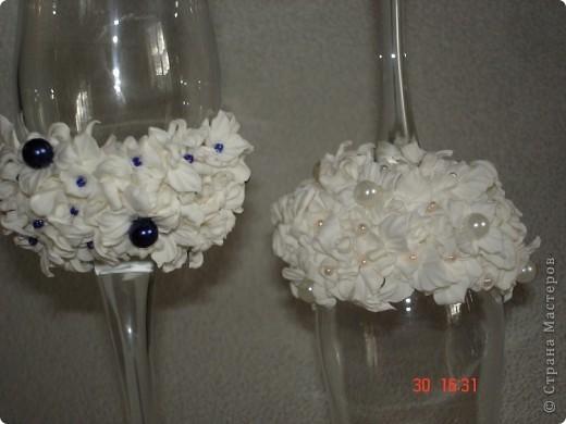 свадебные бокалы! пластика фото 2