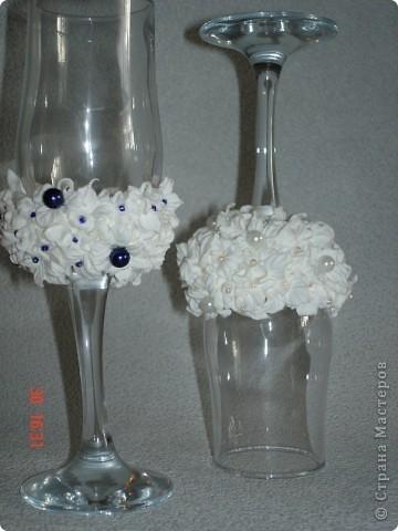 свадебные бокалы! пластика фото 1