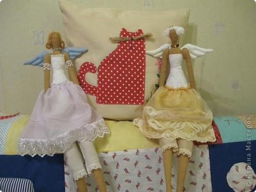 Хотела их сделать ночными феями, в ночных рубашках, но не вышло. Королевешны - и всё! фото 2