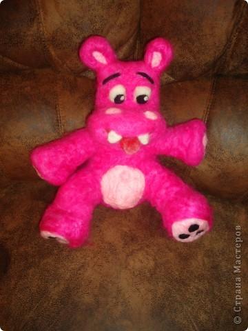 Розовый бегемотик фото 3