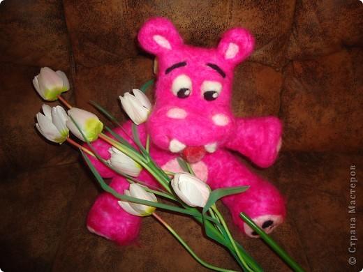 Розовый бегемотик фото 1