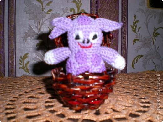 Лунтик в плетёном яйце-ракете