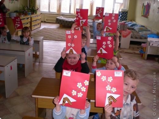 Вот такие работы к 9мая сделали мы с ребятами в детском саду фото 2