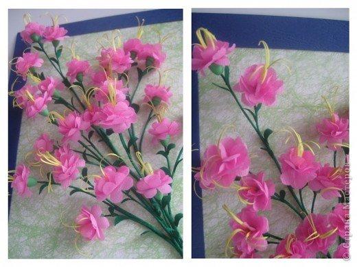 Дорогие Мастерицы,я занялась селекцией!У меня получилось что-то между японской сакурой и нашим багульником ( У нас его еще называют моральником). Так как цветы эти все-таки фантазийные, то и название я им дала соответствующее.  фото 3