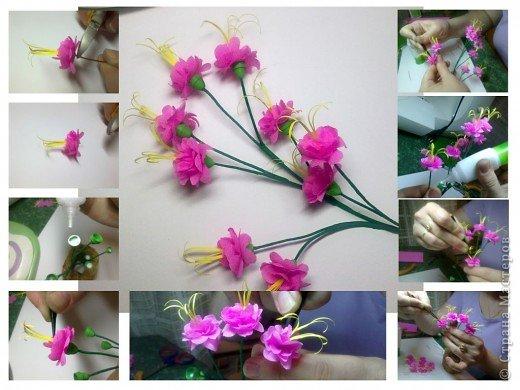 Дорогие Мастерицы,я занялась селекцией!У меня получилось что-то между японской сакурой и нашим багульником ( У нас его еще называют моральником). Так как цветы эти все-таки фантазийные, то и название я им дала соответствующее.  фото 8